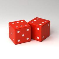 free dice 3d model