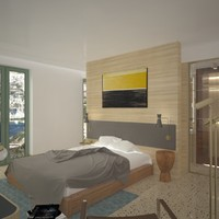 3dsmax boutique hotel room design