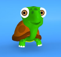 3d cartoon turtle model