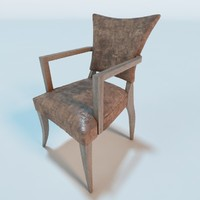 adele leather chair 3d c4d