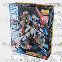 bandai gundam box 3d model