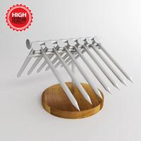 3d model balance nails