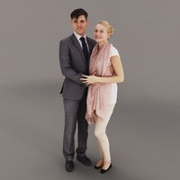 3d model couple people