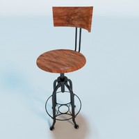 3d andy thorton toledo bar stool model