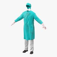 3d c4d surgeon dress 4