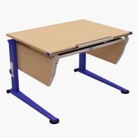 moll basic written table 3d 3ds