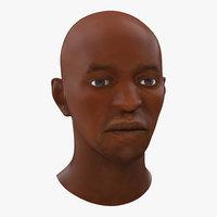 3d model african american male head