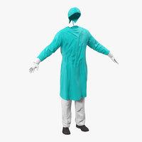 surgeon dress 3 3d model