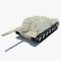 3d isu-152 tank model