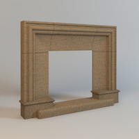 chamotte clay fireplace 3d model