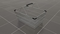 wire shopping basket 3d model