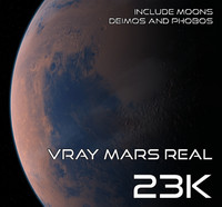 3d model mars real 23k