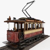 c4d classic city tram