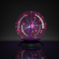 plasma ball light 3d model