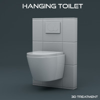 hanging toilet 3d 3ds