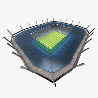 3ds max football stadium