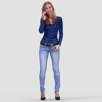 Nancy Casual Standing 2 - 3D Human Model