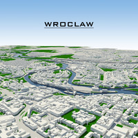 3d wroclaw cityscape