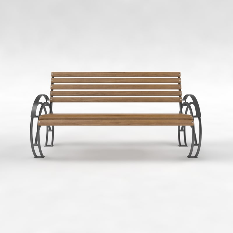 bench street park 3d max