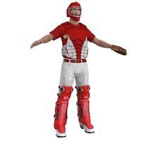 baseball catcher 3d model
