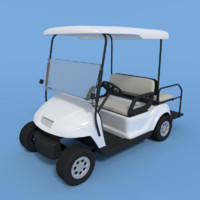 3d model of golf cart