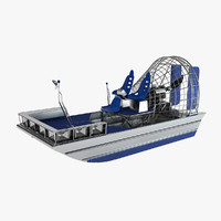 airboat air boat 3d max