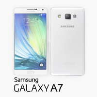 3d samsung galaxy a7 white model