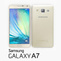 samsung galaxy a7 champagne 3d 3ds