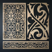 3d decorative laser cutting pattern model