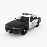 police sedan 3d model