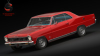 3d chevrolet nova ss super sport model