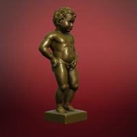3d model of sculpture manneken pis