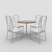 3ds table chairs-10 chairs