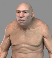caveman human man 3d model