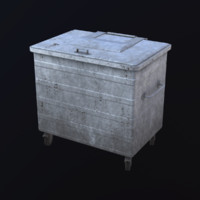 3d model waste container