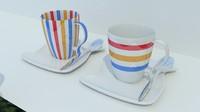 cup saucer 3d 3ds