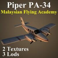 piper seneca mfa 3d model