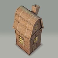 3d clay decorative house model