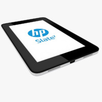 modeled hp slate 7 3d model