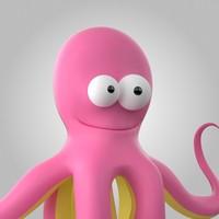 3d model of octopus