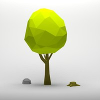 Cartoon low poly tree