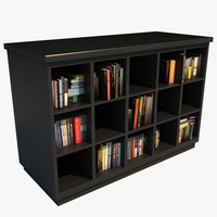 3d modern bookcase books model