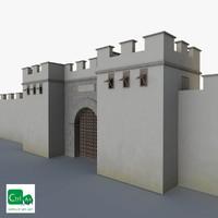 3d roman gate walls