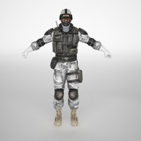 snow soldier 3d model