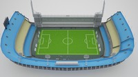 3d model bombonera stadium