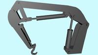 3d crane xml dae model