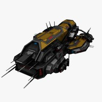 3d model of civilian spaceship