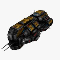 civilian spaceship 3d model