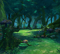 cartoon style forest 3ds