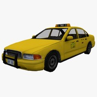 US Taxi low poly car